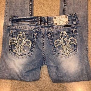 "27"" missme straight jeans. EUC Altered length."